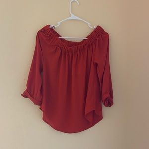 Tops - OFF THE SHOULDER BLOUSE. NEVER WORN. TAG STILL ON.